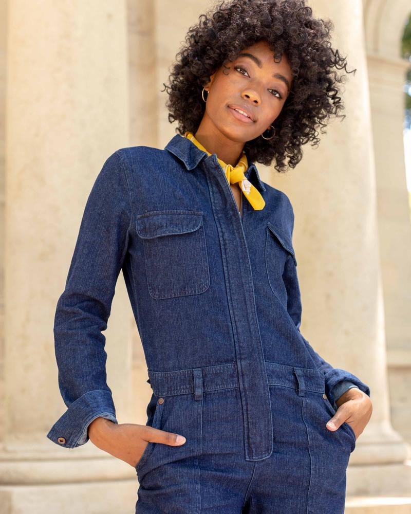 United By Blue Women's Recycled Denim Coverall - Sale