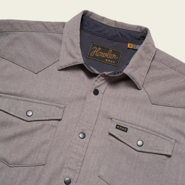 Howler Brothers Stockman Stretch Snapshirt - Mountain Grey