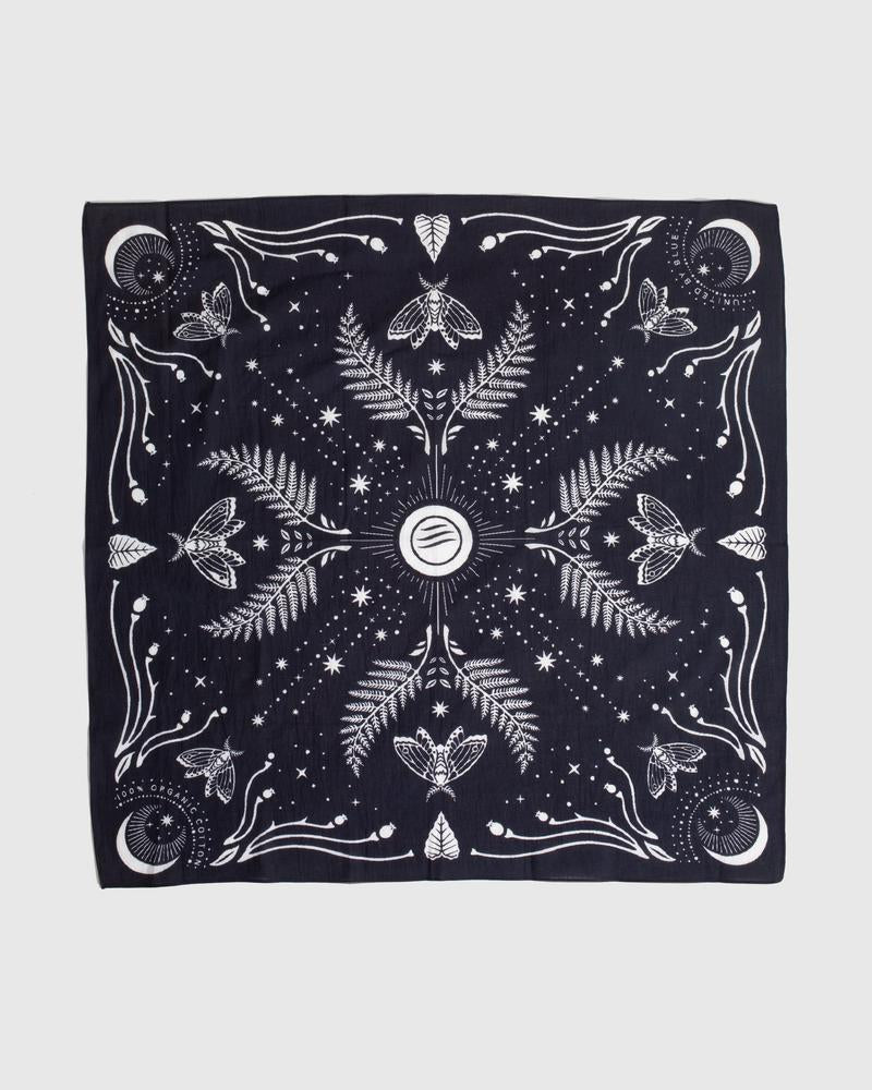 United By Blue Moth and Moon Bandana