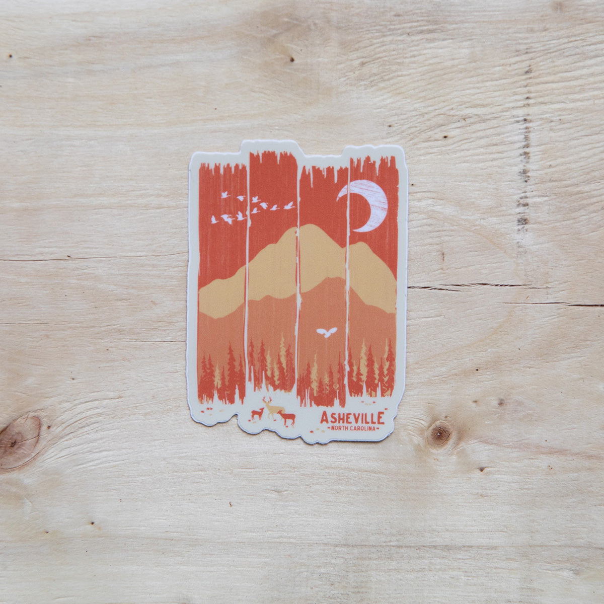 Asheville Fall Mountain Weather Sticker