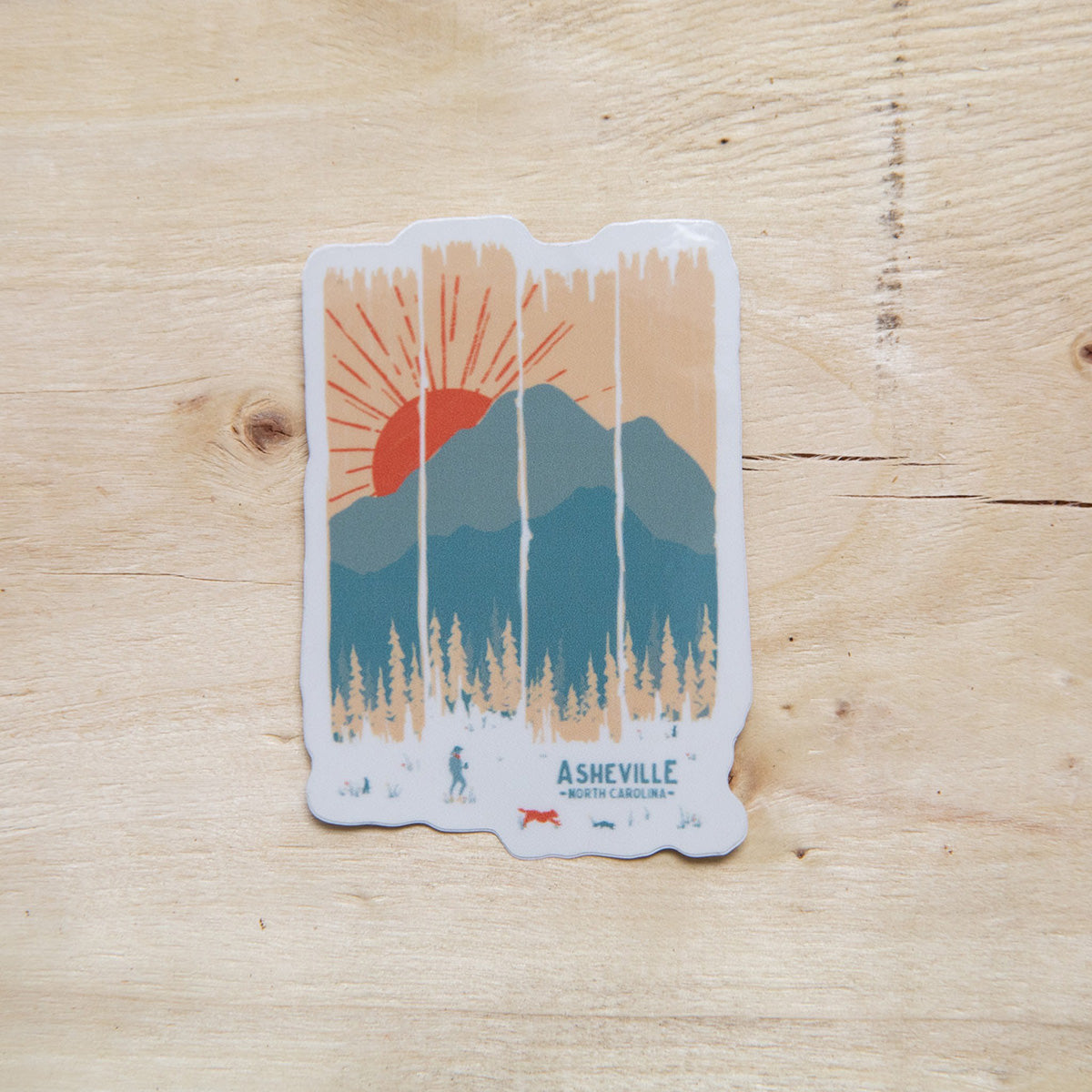 Asheville Summer Mountain Weather Sticker