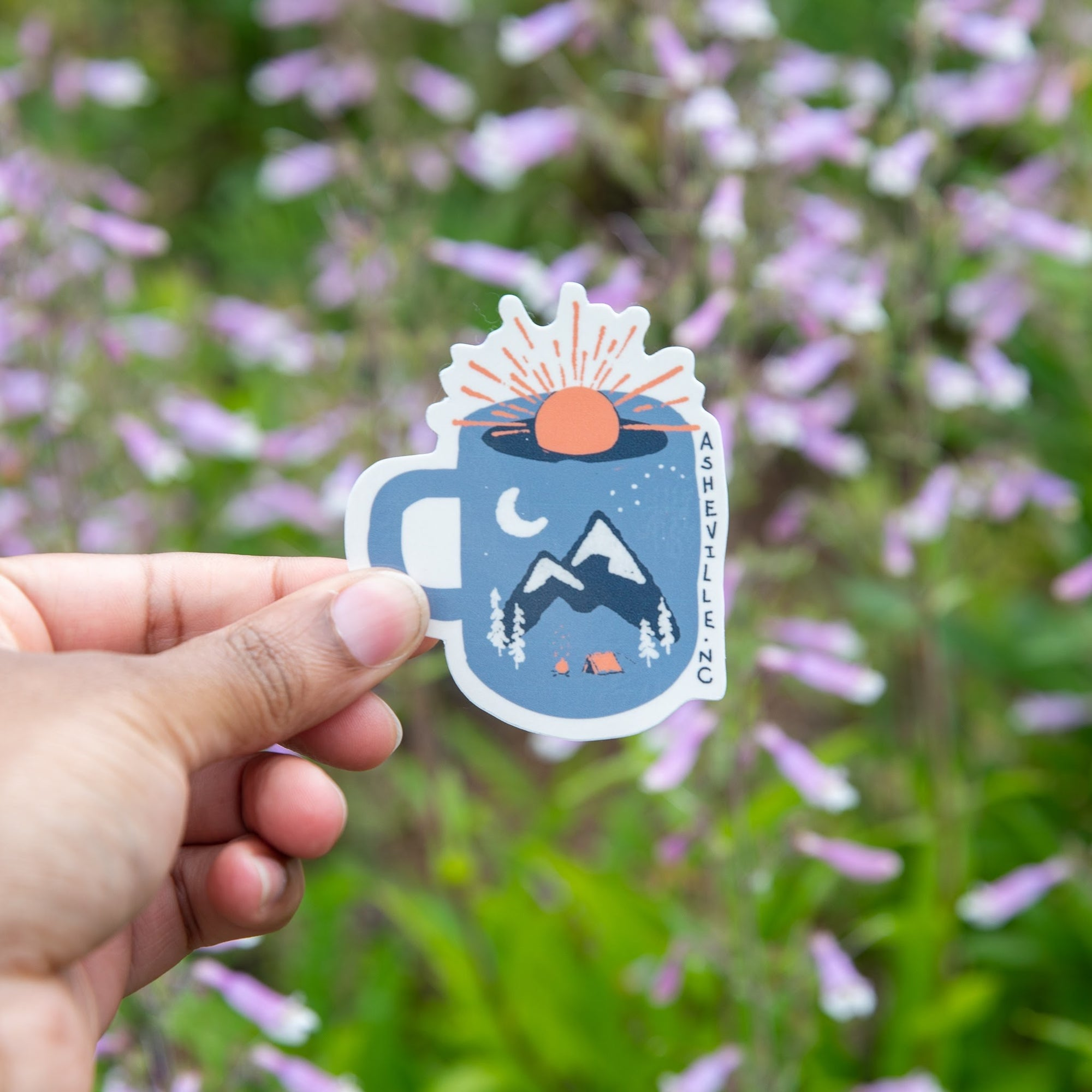 Mountain Morning Wakeup Sticker