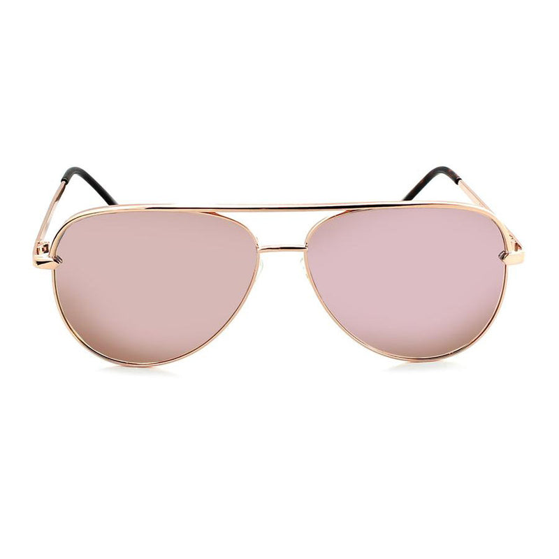 Optic Nerve Flatscreen Sunglasses - Shiny Rose Gold