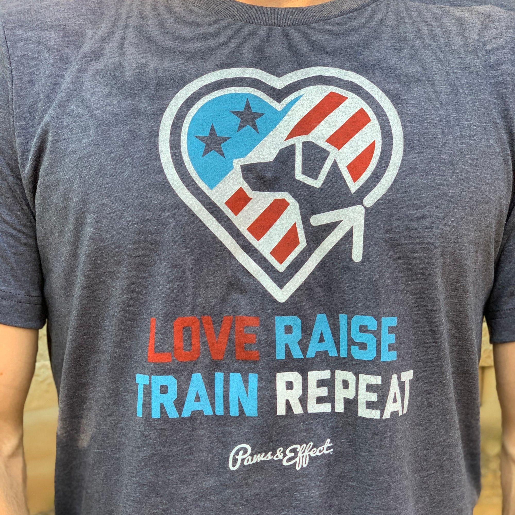 Fundraiser - Paws & Effect Love, Raise, Train, Repeat Tee