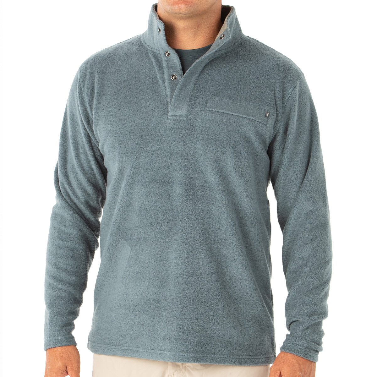 Free Fly Men's Bamboo Polar Fleece Snap Pullover - Final Sale