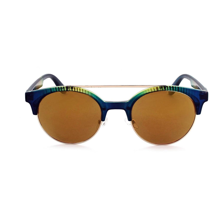 Optic Nerve Busby Sunglasses - Vertical Crystal Turquoise