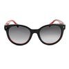 Optic Nerve Hotplate Sunglasses - Shiny Black with Dark Red