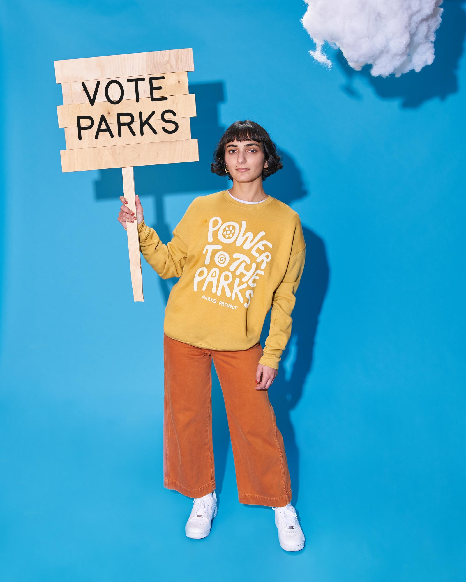 Parks Project Power to the Parks Crew Neck Sweatshirt - Mustard