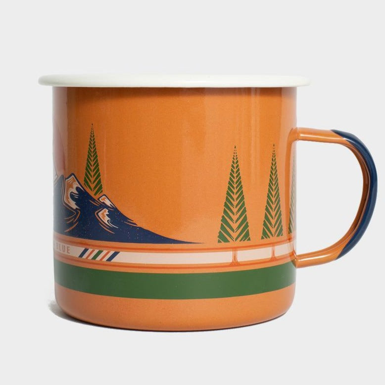 United By Blue To The Mountains 22 oz. Enamel Steel Mug
