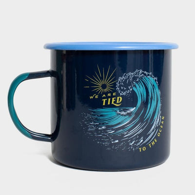 United By Blue Tied To The Ocean 22 oz. Enamel Steel Mug