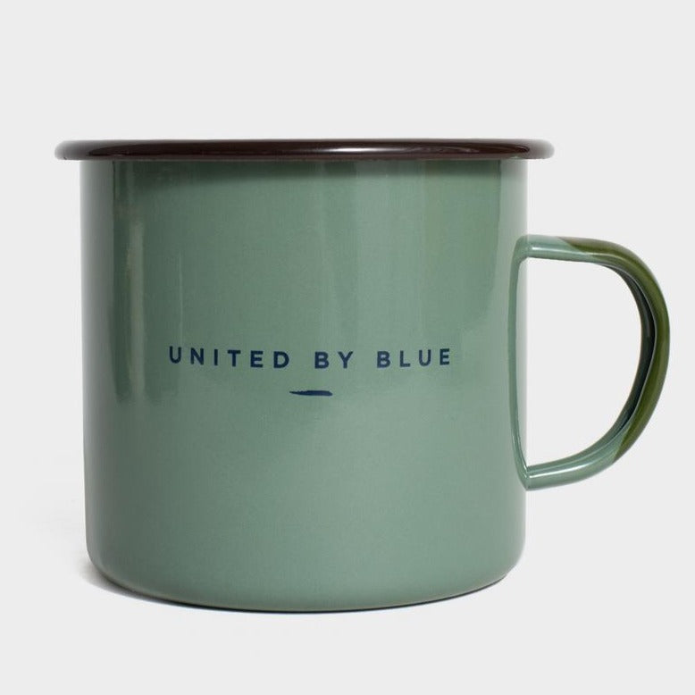 United By Blue Weekend Hideout 22 oz. Enamel Steel Mug
