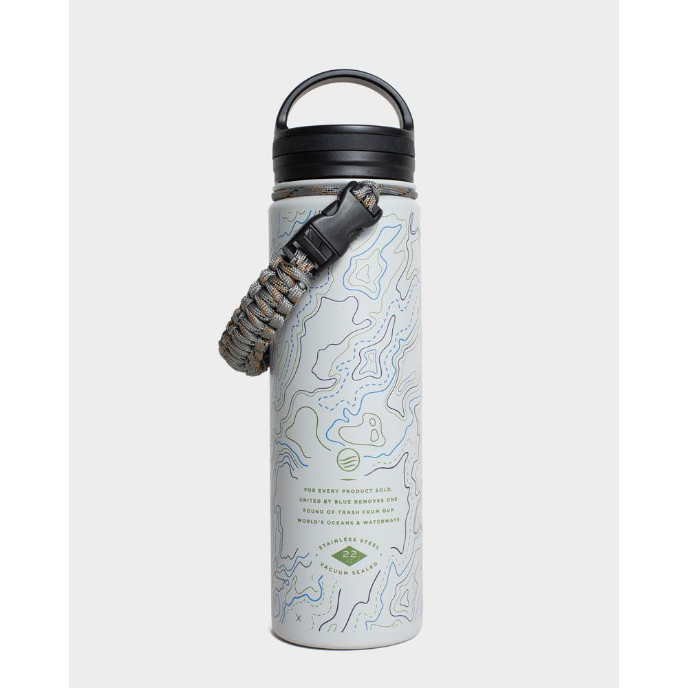 United By Blue Topography 22 oz. Insulated Steel Water Bottle