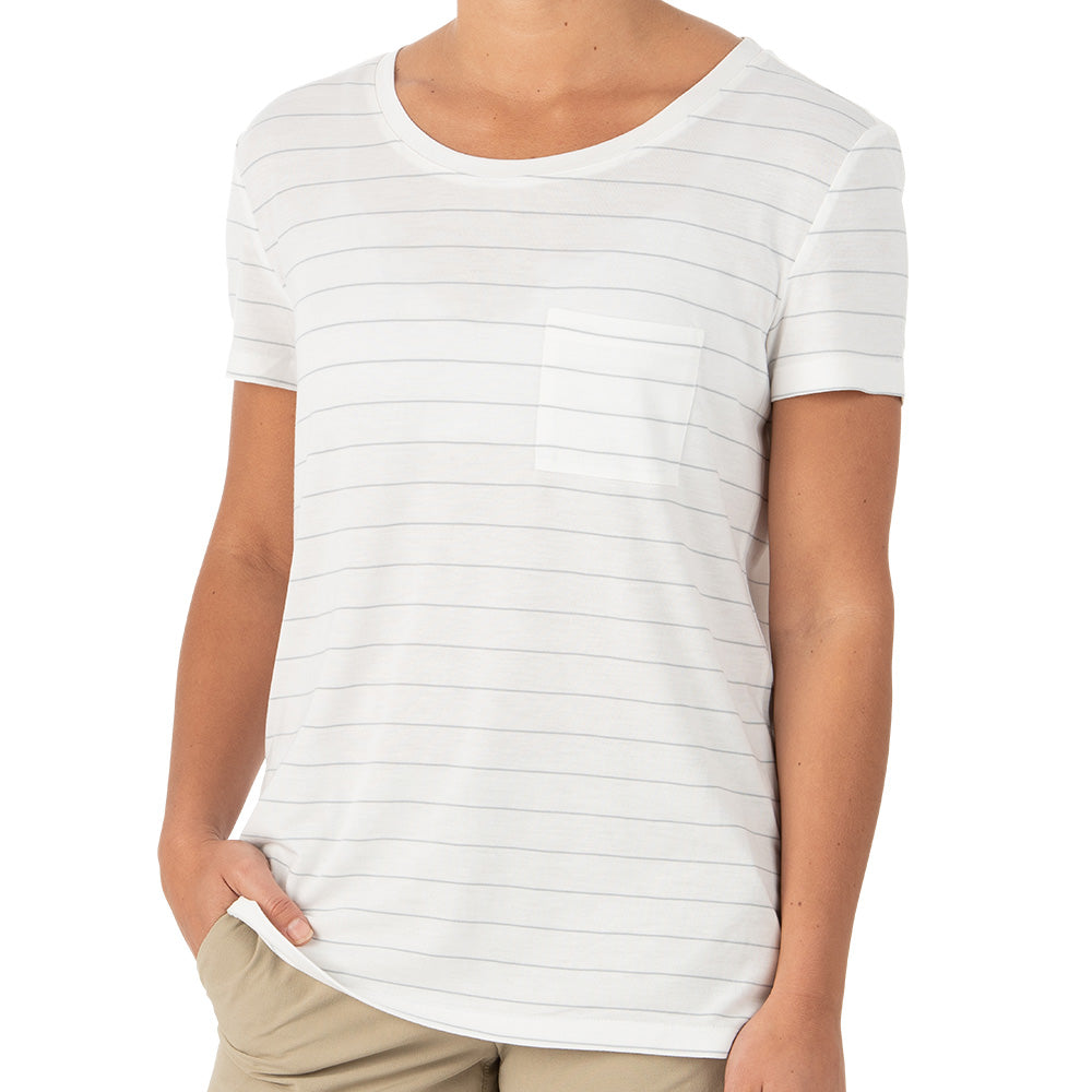 Free Fly Women's Bamboo Channel Pocket Tee