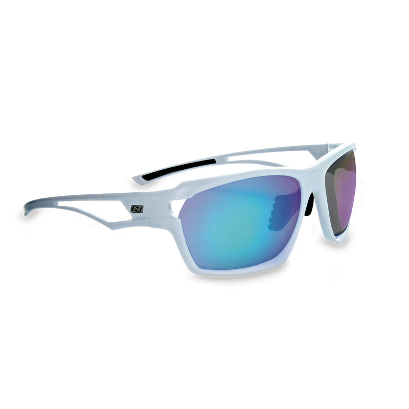 Optic Nerve Variant Sunglasses - Shiny White