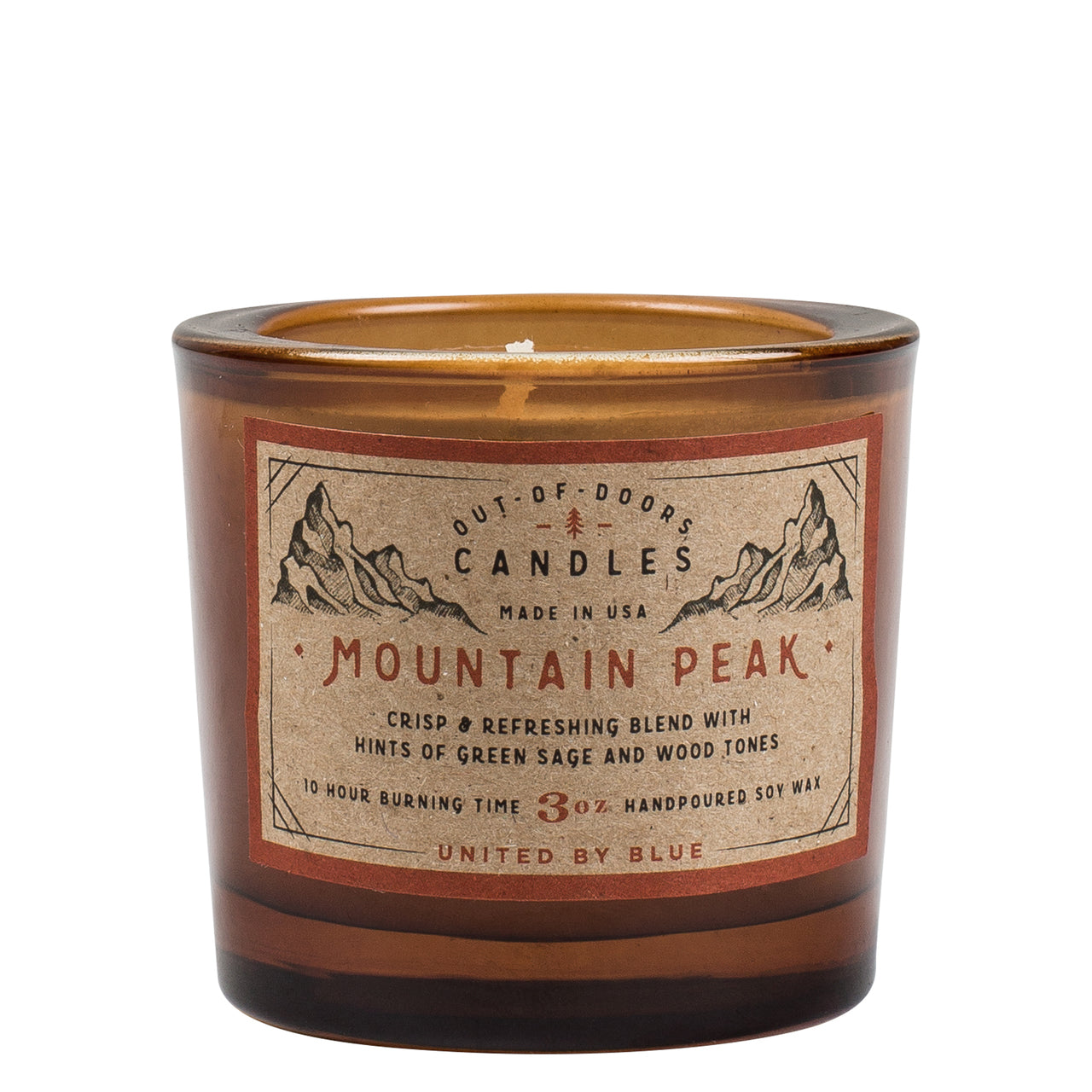 United By Blue 3 oz. Mountain Peak Out-of-Doors Candle