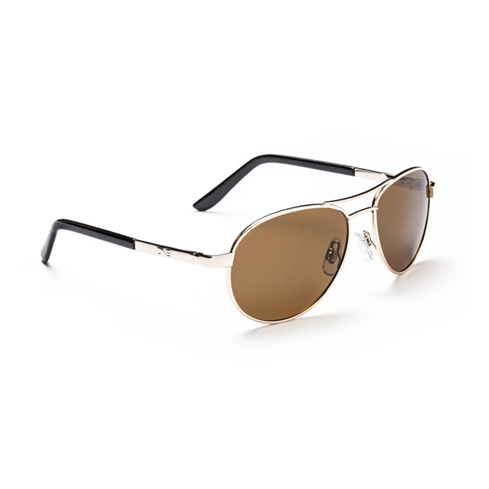 Optic Nerve Siren Gold Sunglasses - Polarized Brown Lens