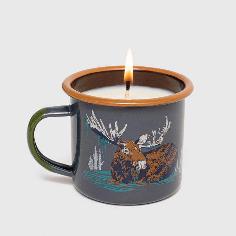United By Blue Morning Dip Enamel Steel Mug Candle
