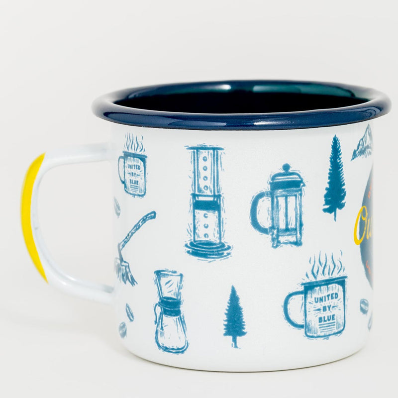 United By Blue Outdoors Enamel 12 oz. Mug