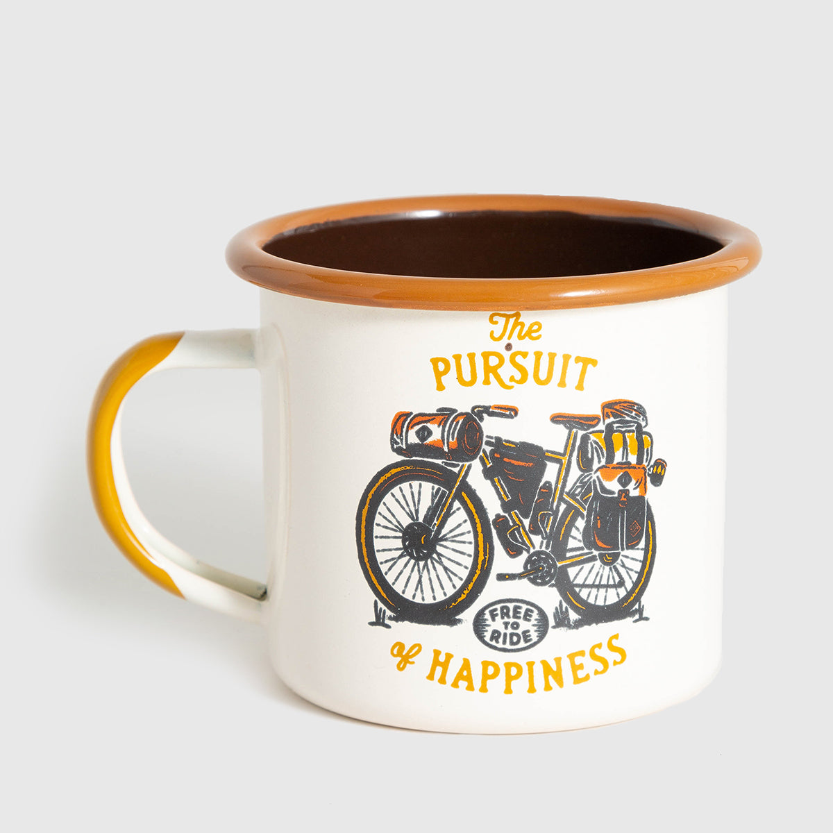 United By Blue Free To Ride Enamel 12 oz. Mug