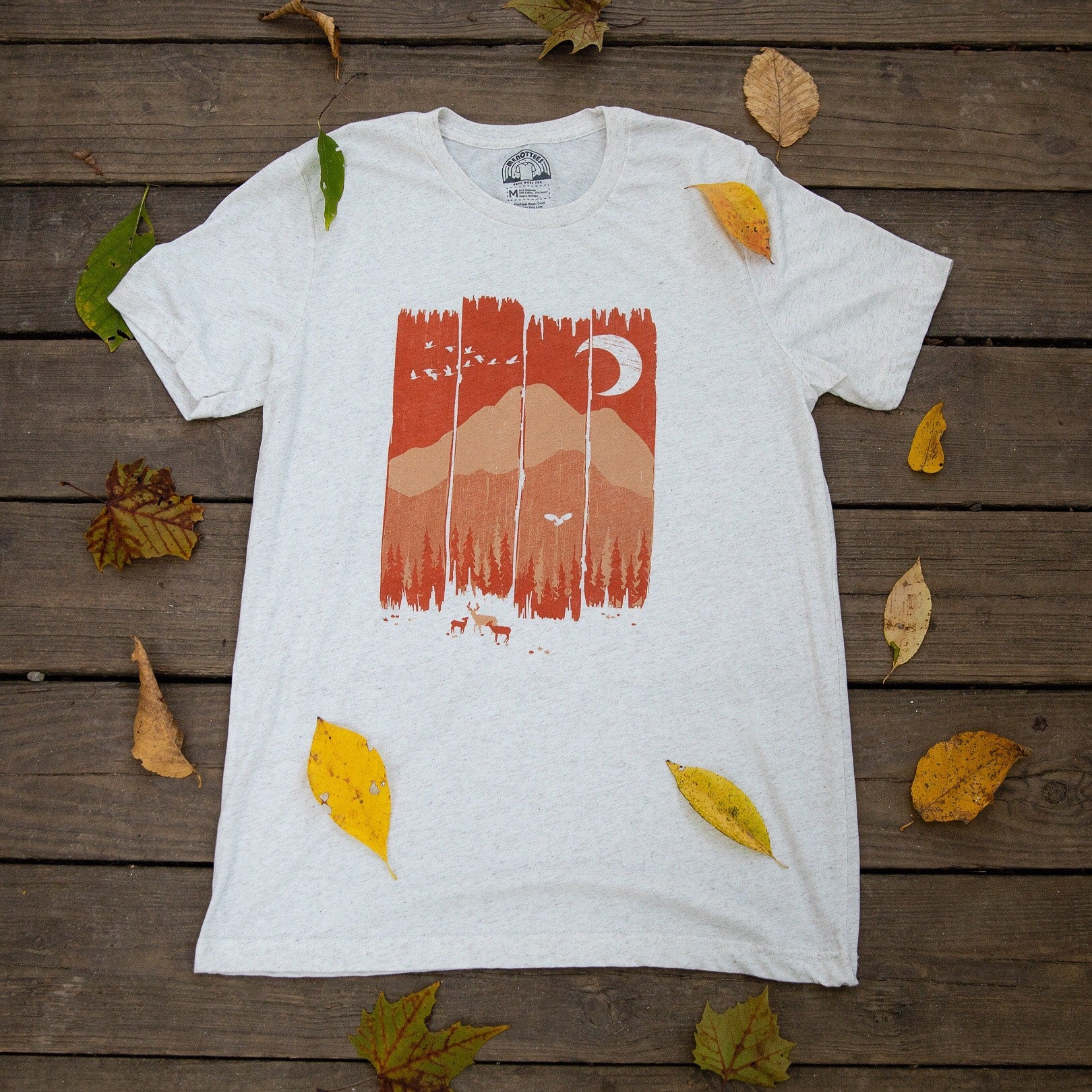 Menottees Fall Mountain Weather Tee