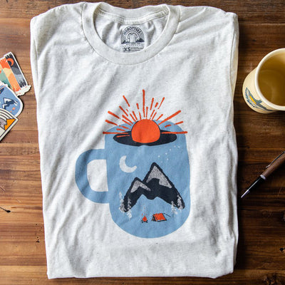 Menottees Mountain Morning Wake Up Tee