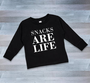 SNACKS ARE LIFE LONG SLEEVE