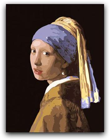 Girl with a Pearl Earring Paint By The Numbers Kit