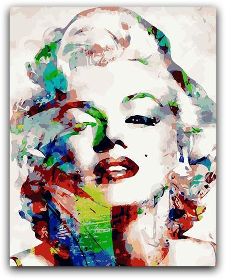 Marilyn Monroe Paint By The Numbers Kit
