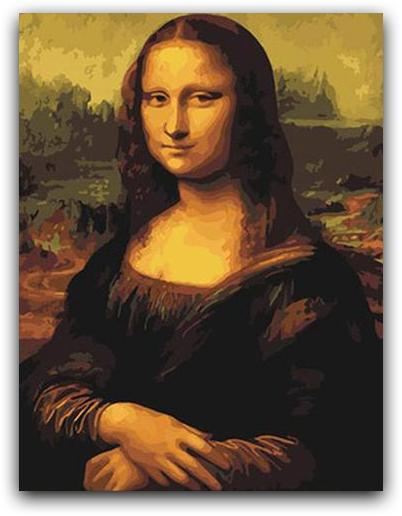Mona Lisa Paint By The Numbers Kit