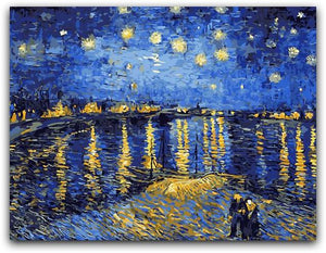 Starry Night Over the Rhône Paint By The Numbers Kit