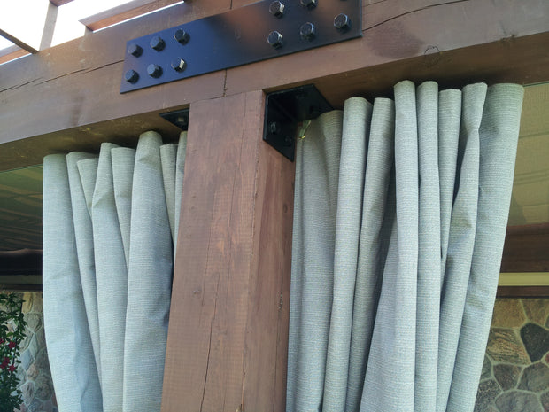 Cedar Pergola Kit Privacy Curtains
