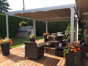 Aluminum Cabana with Retractable Canopy