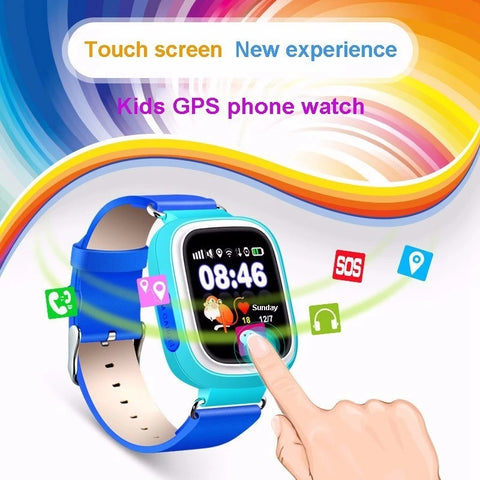 kids GPS phone watch touch screen