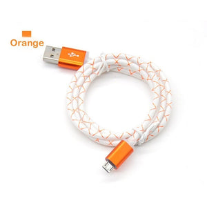 Fashion 1m Micro Sync Data Cable Mobile Phone USB Data Cables Fast Charge For Anroid mobile phones JS-00082 - Nice World Store