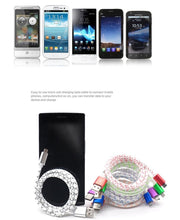 Load image into Gallery viewer, Fashion 1m Micro Sync Data Cable Mobile Phone USB Data Cables Fast Charge For Anroid mobile phones JS-00082 - Nice World Store