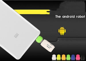 6pcs Retail Multi color Option Robot Shape Android Micro USB To USB 2.0 Converter OTG Adapter For Galaxy S3 S4 S5 TW-243 - Nice World Store