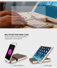 Load image into Gallery viewer, 2 IN 1 Slim Bluetooth Wireless Foldable Full Size Keypad Portable Keyboard With Holder Stand For mobilephone PC Tablet TW-229 - Nice World Store