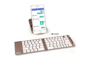 2 IN 1 Slim Bluetooth Wireless Foldable Full Size Keypad Portable Keyboard With Holder Stand For mobilephone PC Tablet TW-229 - Nice World Store