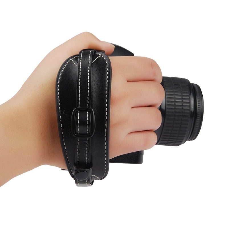 DSLR Camera PU Leather Grip Rapid Wrist Strap Soft Hand black TW-372 - Nice World Store