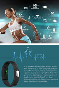Diggro ID107 Heart Rate Monitor Smart Bracelet Health Monitor Fitness Tracker for Android iOS TW-401 - Nice World Store