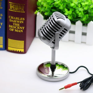 Retro style computer microphone notebook condenser microphone dedicated YY voice chat karaoke singing Skype WhataApp MSN TW-815 - Nice World Store