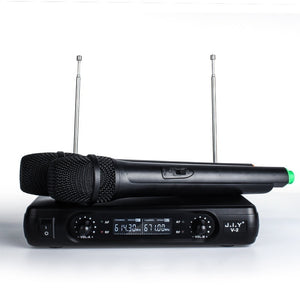 Classic Wireless Cordless Dual Channel Microphone For Home KTV DJ Karaoke Meeting Dancing, Hosting, Church LF01-10013 - Nice World Store