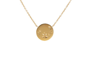 LG PETAL DOT NECKLACE