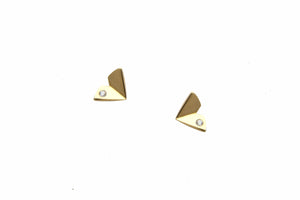 LARGE ORIGAMI STUDS W/ DIAMOND