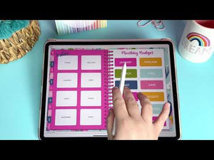 Load and play video in Gallery viewer, 2021 Dated Digital Planner | Floral Blooms