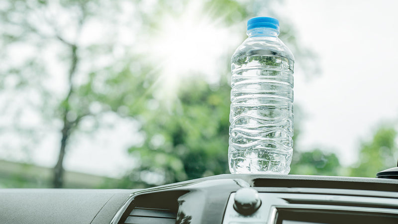 LEAVE YOUR BOTTLED WATER IN THE CAR? DRINK WITH CAUTION.