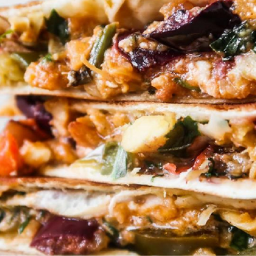 Spicy Chicken Quesadilla with Feta Cheese