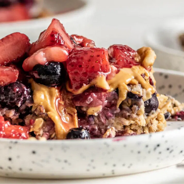 Baked Berry Protein Oatmeal