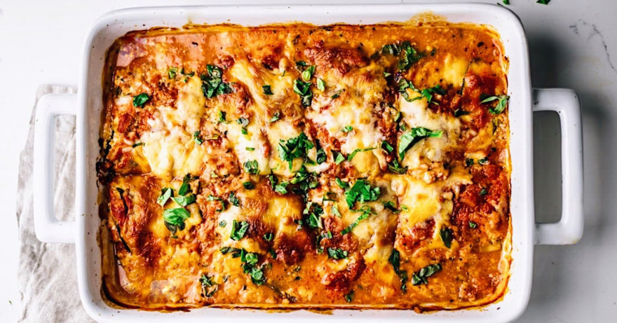 High Protein, Low Carb Zucchini Lasagna