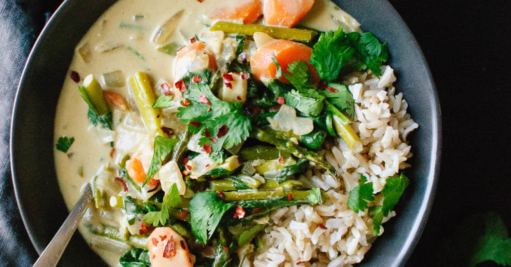 Thai Green Curry with Spring Vegetables